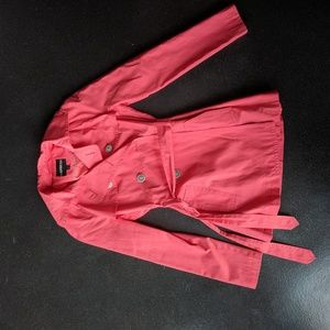 Express pink trench coat - size XS